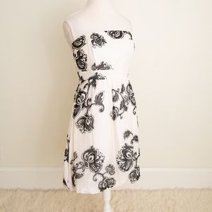 NWT Black & White Floral Dress